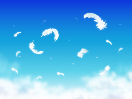 Sky and feathers and clouds 04