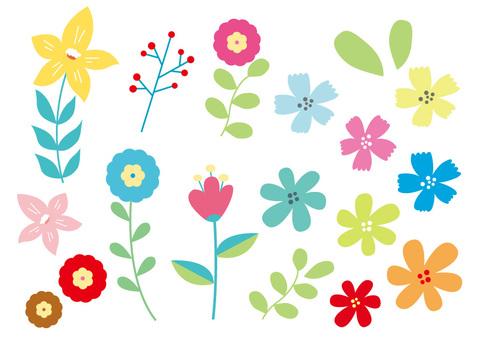 Flower material set