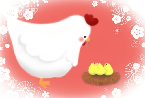 Chicken and chick (Orange type)