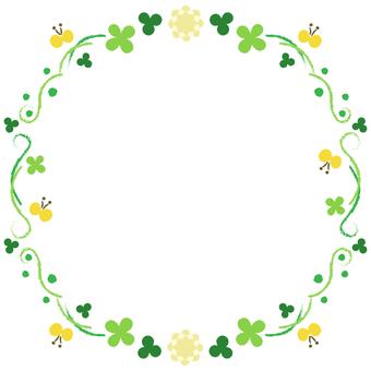 Clover frame <Circular shape>
