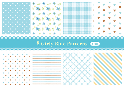 Girly pattern 02_ blue