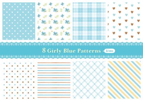 가리 패턴 02_ 블루
