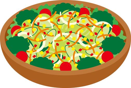 Menu Salad Raw vegetables Healthy