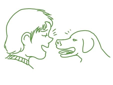 狗和所有者
