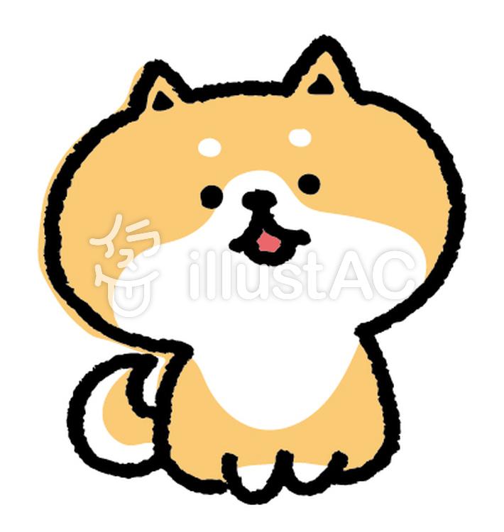 ゆるいいぬ 柴犬イラスト No 969660無料イラストならイラストac