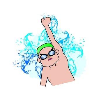 游泳自由泳(水)