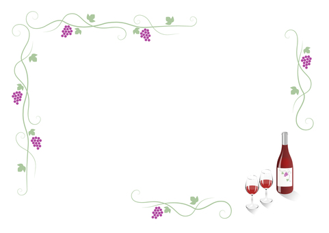Grape frame (with red wine)