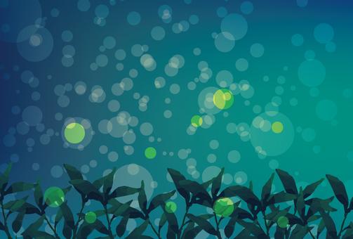 Fireflies night background image