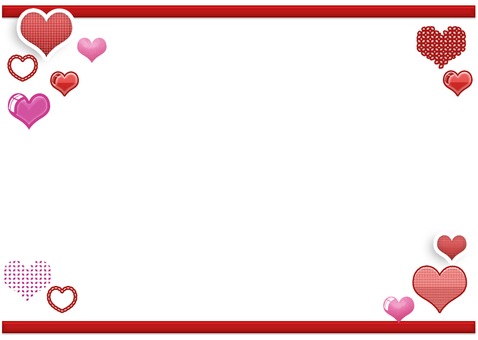 Cute heart frame