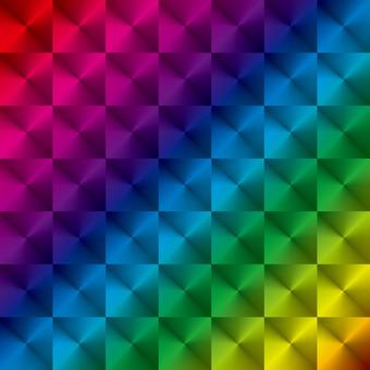 Glitter hollow (rainbow / rainbow) square