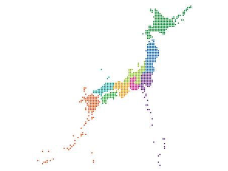 일본지도 블록