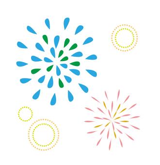Fireworks motif