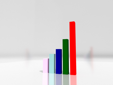 Bar graph CG image