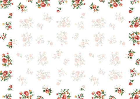 복고풍 꽃 화이트 2
