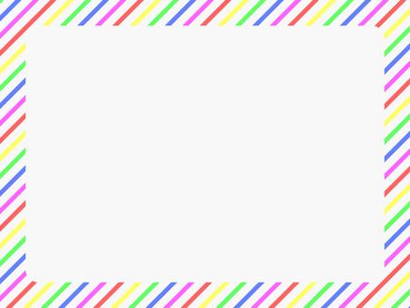 5 색 대각선 줄무늬 프레임 2