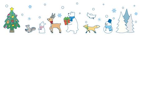 冬の動物ライン1