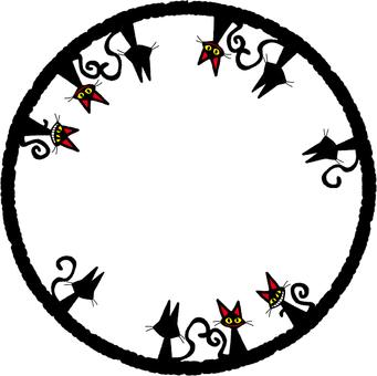 Black cat circle