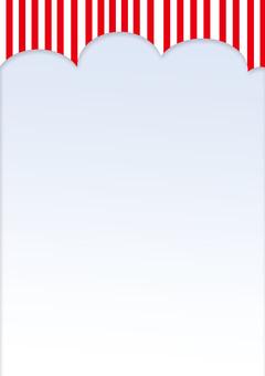 Stripe leaflet material _ red