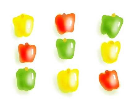 Green pepper, paprika