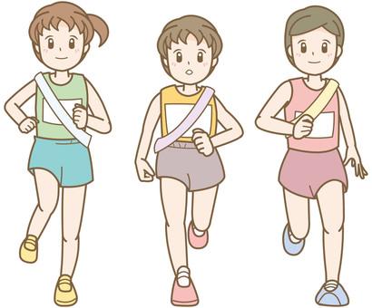 Ekiden running woman A