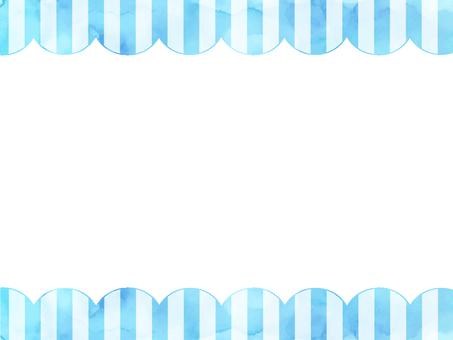 Watercolor stripe frame 2 light blue