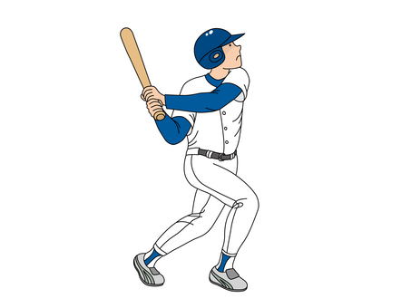 A batter who follows a hit ball