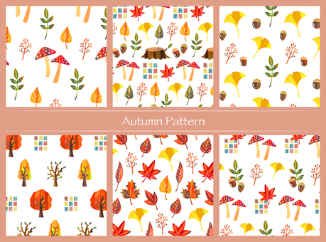 秋の植物パターン