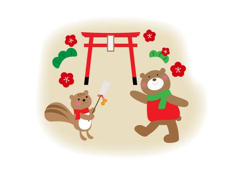 Let's go to the New Year 's visit to New Year' s Day