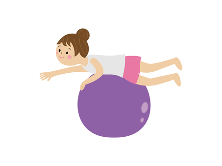 Balance ball illustration