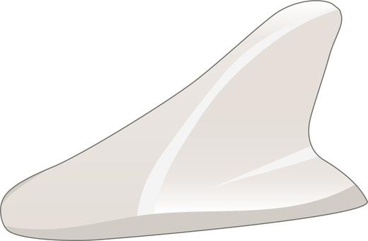 Shark antenna white