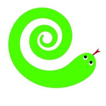 Swirl snake (green)