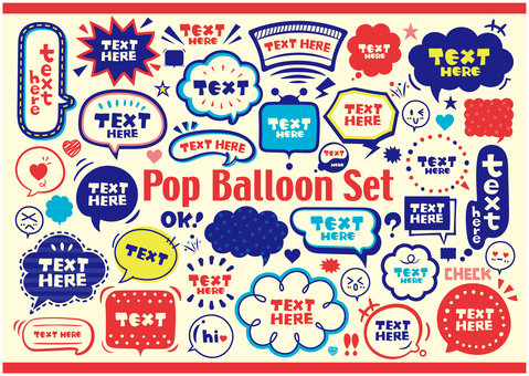 Pop bubble SET
