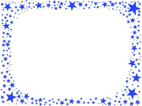 Star frame blue