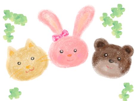 兔子,熊和貓