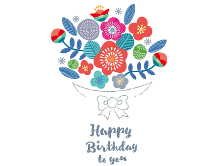 Birthday card _ Scandinavian pattern