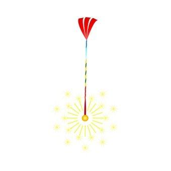 Glittering sparkler fireworks