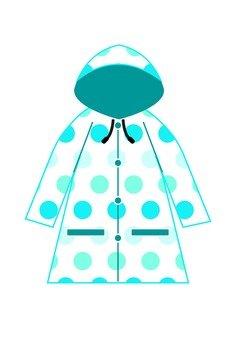 Raincoat with polka dot
