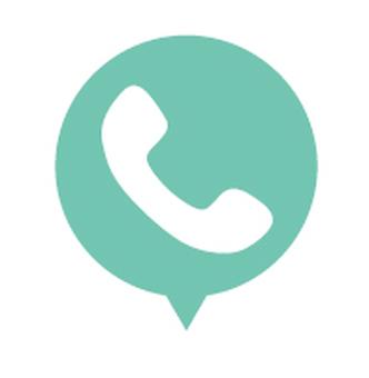 플랫 디자인 아이콘 전화