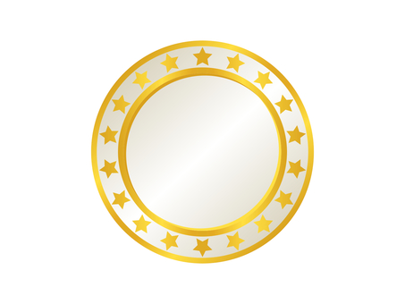 Medal Icon 12 Gold (White)