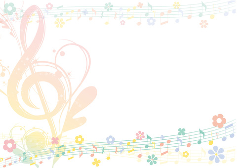 Easter color elegant music frame