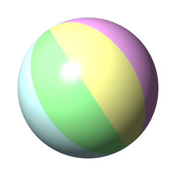 Beach ball (pastel color)