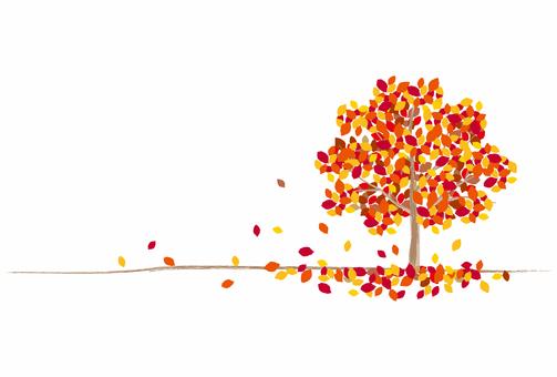 가을 / 단풍 나무와 낙엽
