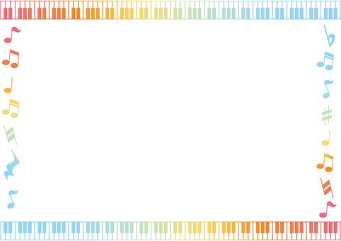 무지개 색깔의 음악 프레임