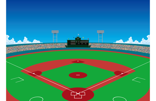 Stadium baseball field wallpaper