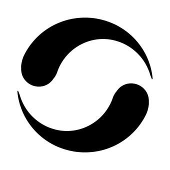 Monochrome vertical circular frame 1