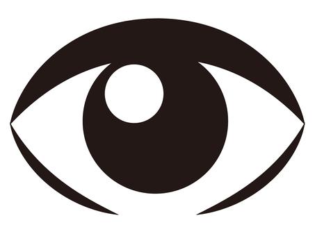 目線シルエット イラストの無料ダウンロードサイトシルエットac