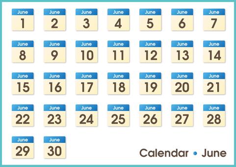 Calendar only June