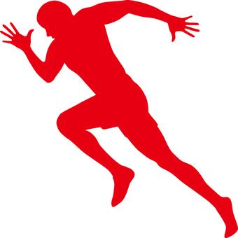 Runner _ Silhouette _ Red