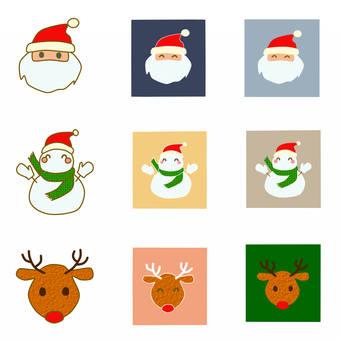 圣诞节字符图标