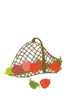 Cute illustration of Hozuki's basket